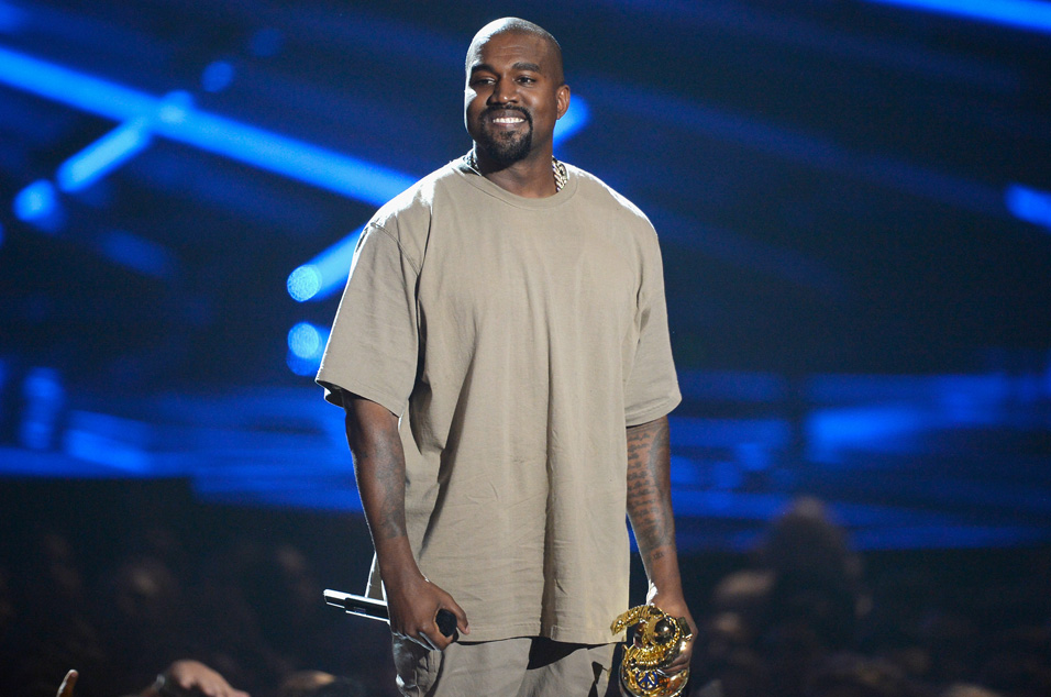 LOS ANGELES, CA - AUGUST 30:  Vanguard Award winner Kanye West speaks onstage during the 2015 MTV Video Music Awards at Microsoft Theater on August 30, 2015 in Los Angeles, California.  (Photo by Kevork Djansezian/Getty Images)