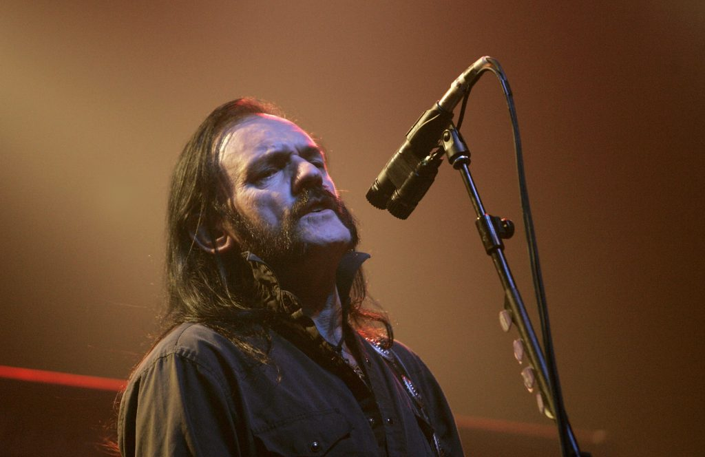 LONDON - NOVEMBER 19:  Lemmy Kilminster of metal rock group Motorhead performs at the London stop of their 30th anniversary tour, at Carling Academy Brixton on November 19, 2005 in London, England.  (Photo by Jo Hale/Getty Images)