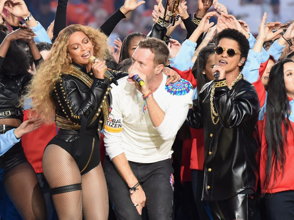performs onstage during the Pepsi Super Bowl 50 Halftime Show at Levi's Stadium on February 7, 2016 in Santa Clara, California.
