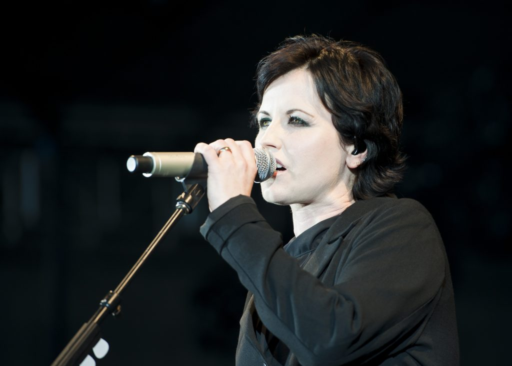 Dolores O'Riordan of The Cranberries performs live in concert at F1 Rocks at the Sidney Myer Music Bowl in Melbourne, Australia.
