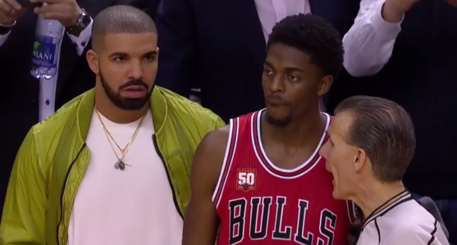 de5f225e0ed5 Drake accused of distracting Chicago Bulls basketball player leading to foul