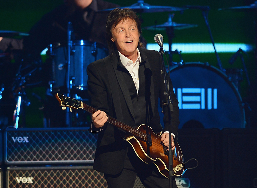 LAS VEGAS, NV - SEPTEMBER 21:  Sir Paul McCartney performs onstage during the iHeartRadio Music Festival at the MGM Grand Garden Arena on September 21, 2013 in Las Vegas, Nevada.  (Photo by Ethan Miller/Getty Images for Clear Channel)