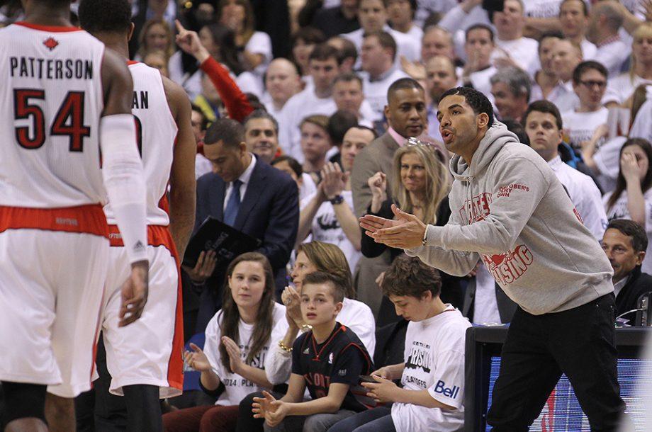 f8361a7ed41 Drake s Hilarious Moments At Toronto Raptors  Games