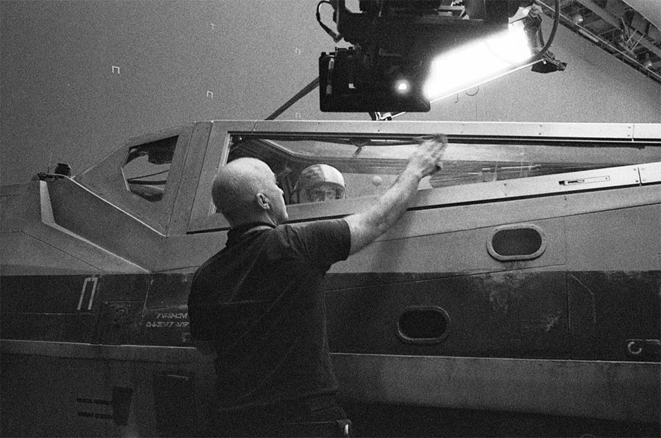 One of director Rian Johnson's behind-the-scenes photos from the Star Wars episode 8 set