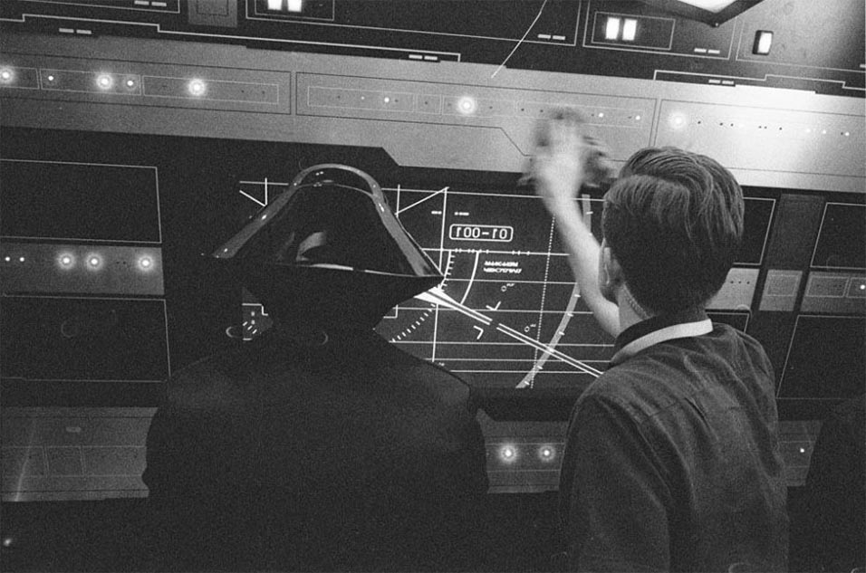 Another of Rian Johnson's behind-the-scenes photos from the Star Wars episode 8 set