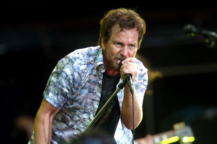 Watch Pearl Jam's Eddie Vedder dance in Donald Trump mask onstage at gig