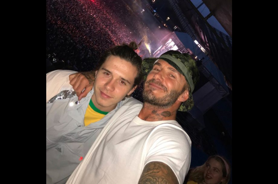 David Beckham Wore A Bucket Hat To A Stone Roses Gig Last Night 9a2a43542de