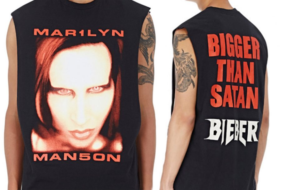 d6604cb14 Justin Bieber sells old Marilyn Manson T-shirt as his own merchandise for  £150