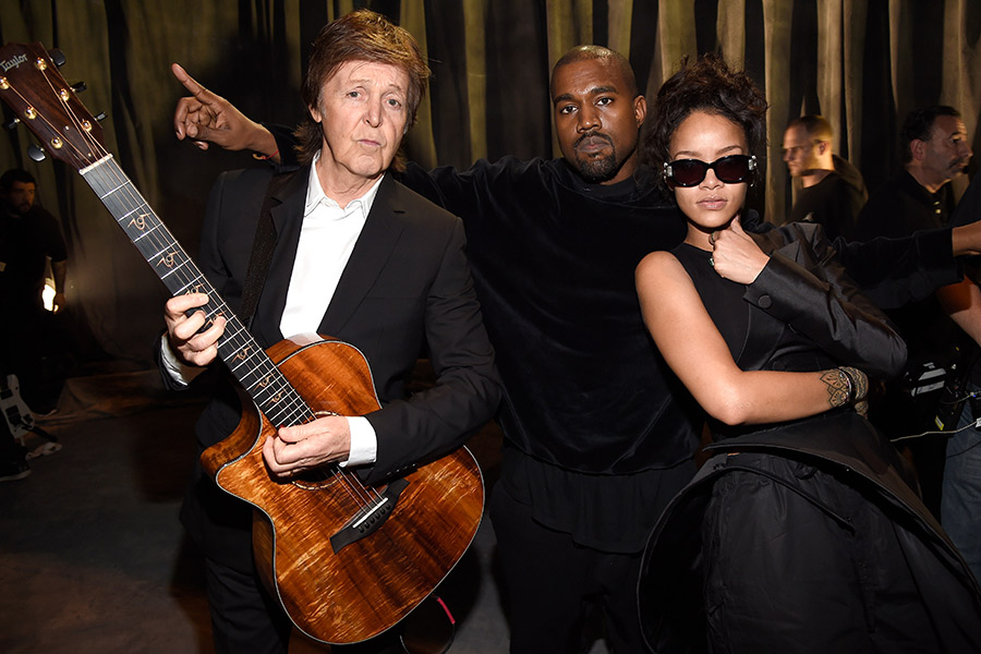 Paul McCartney performs Kanye West and Rihanna collaboration