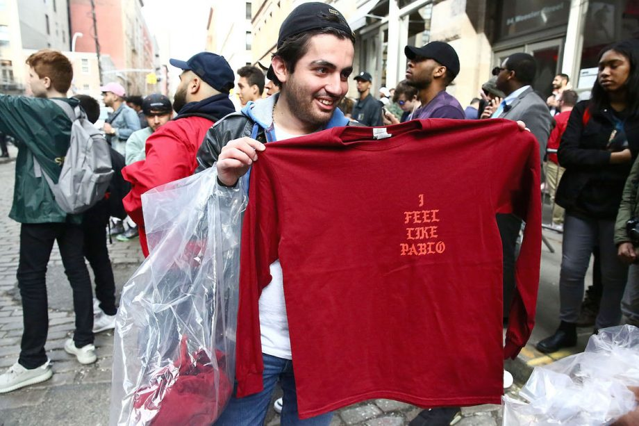 Kanye West fans queue up to 15 hours to buy rapper's merch
