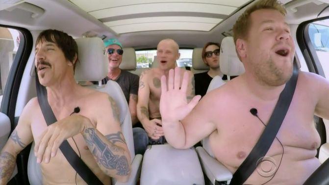 Red hot chili peppers 39 flea says 39 carpool karaoke 39 works for Car pool karaoke show
