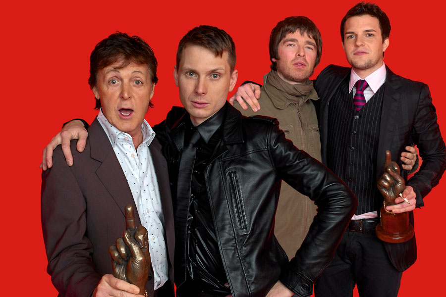 Paul McCartney, Noel Gallagher, Brandon Flowers, Alex Kapranos
