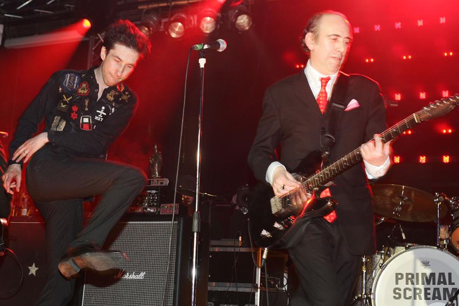 Primal Scream with Mick Jones at the awards