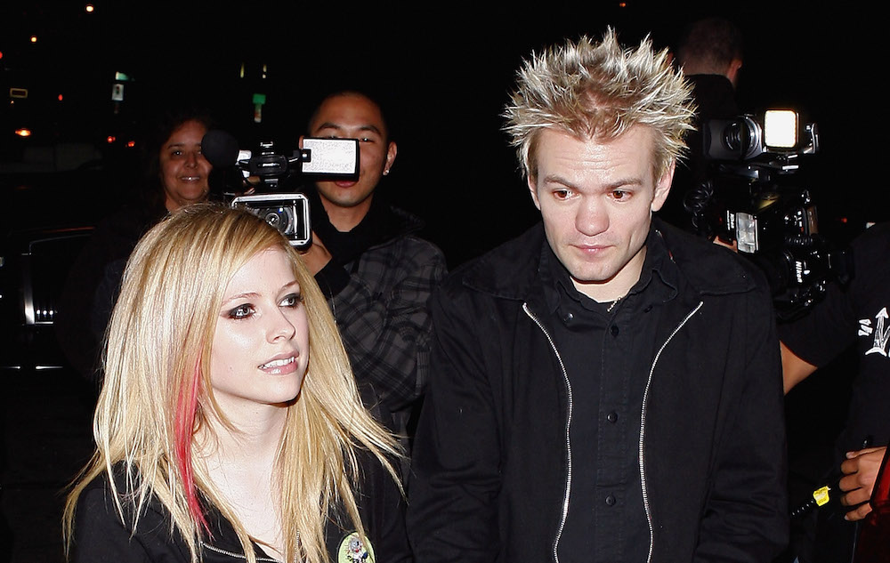 LOS ANGELES, CA - DECEMBER 04:  Avril Lavigne and Deryck Whibley are seen on December 4, 2008 in West Hollywood, California.  (Photo by Jean Baptiste Lacroix/WireImage)