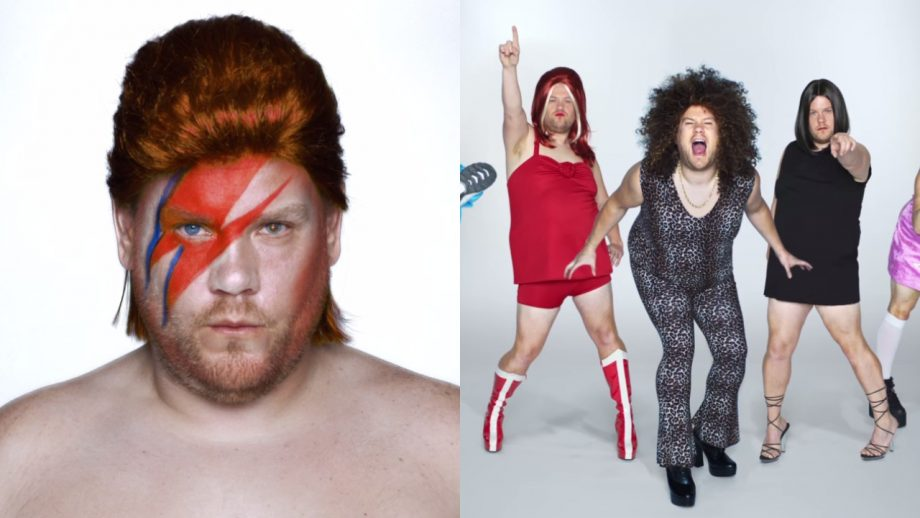 Watch James Corden dress up as Bowie, Spice Girls and other music icons in Apple Music ad