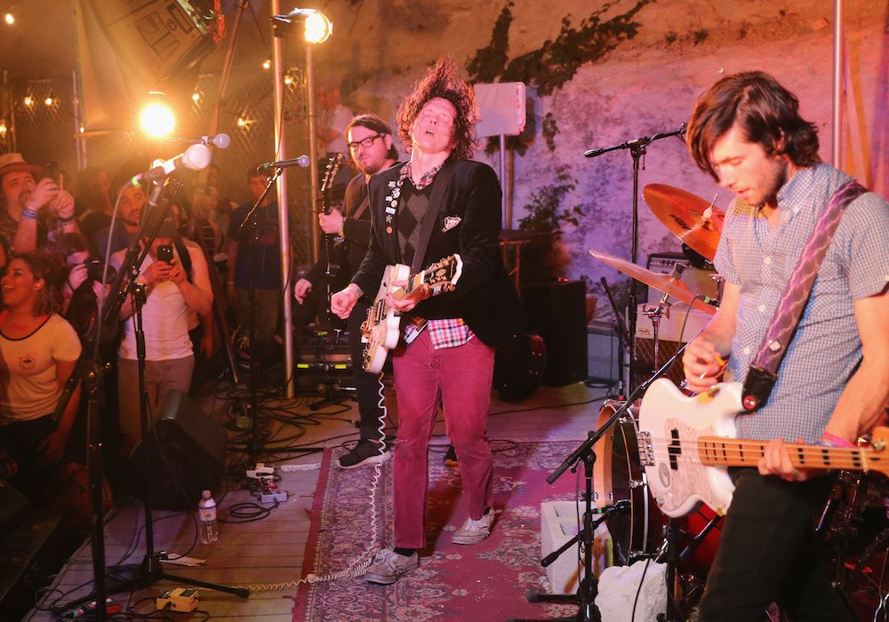 AUSTIN, TX - MARCH 16:  Beach Slang performs onstage at the Jansport music showcase during the 2016 SXSW Music, Film + Interactive Festival at Cheer Up Charlie's on March 16, 2016 in Austin, Texas.  (Photo by Diego Donamaria/Getty Images for SXSW)