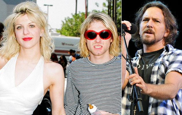 Courtney Love, Kurt Cobain and Pearl Jam's Eddie Vedder