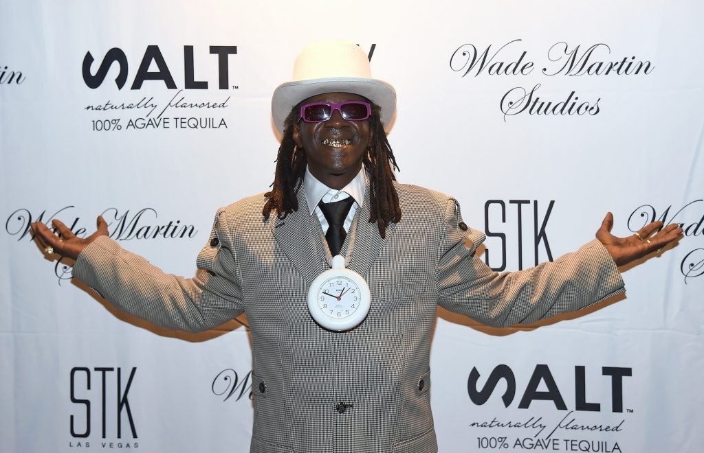 LAS VEGAS, NV - SEPTEMBER 01:  Rapper Flavor Flav attends producer Wade Martin's premiere of music videos by Flavor Flav and Coolio, the first ever to use full-HD virtual reality technology, at STK at The Cosmopolitan of Las Vegas on September 1, 2015 in Las Vegas, Nevada.  (Photo by Ethan Miller/Getty Images)
