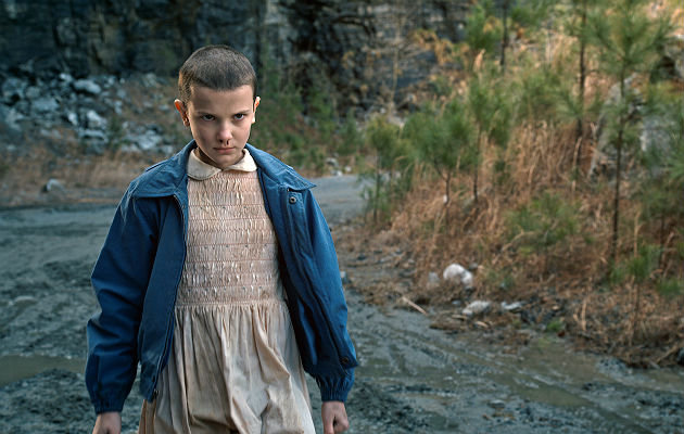 Stranger Things Eleven Halloween costume - Millie Bobby-Brown reacts