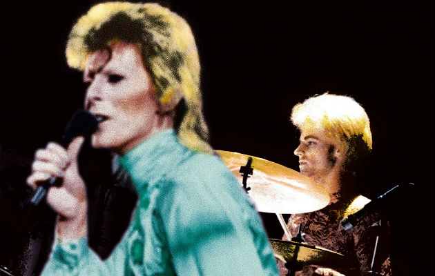 David Bowie and Woodie Woodmansey