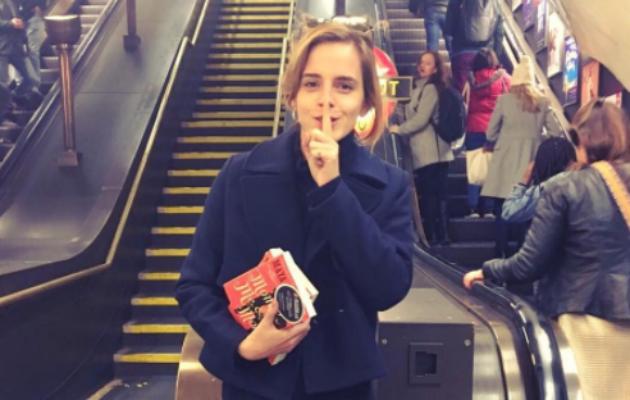 Watch 'Harry Potter' actress Emma Watson hiding books on the London Underground