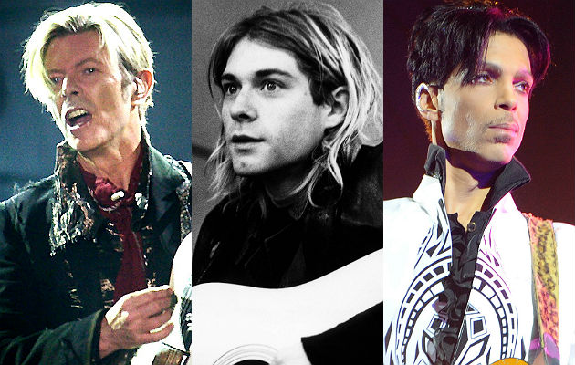 David Bowie, Kurt Cobain, Prince