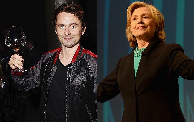 Matt Bellamy and Hillary Clinton