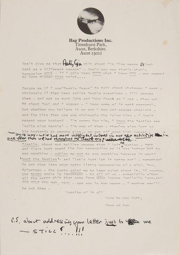 The Beatles Read John Lennon s sweary letter to Paul McCartney as