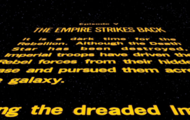 Rogue One: A Star Wars Story' doesn't have an opening crawl, so