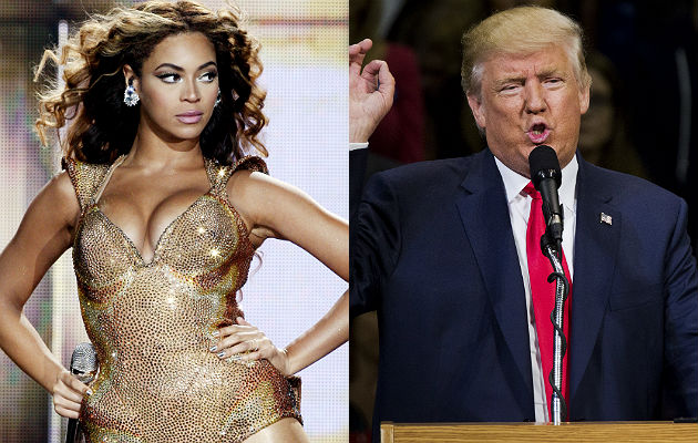 Beyonce and Donald Trump