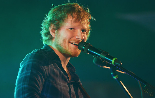Ed Sheeran goes 'blue' in social media return
