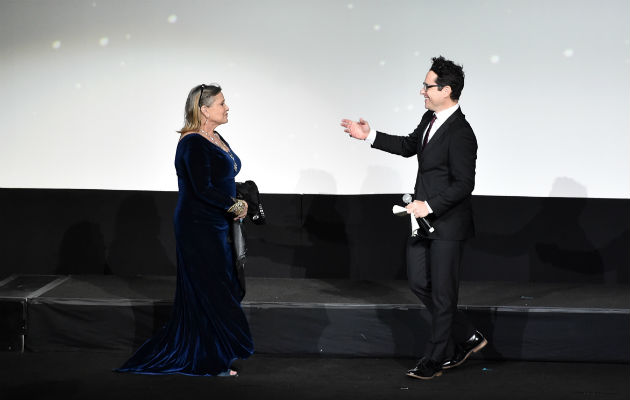 Image result for carrie fisher jj abrams