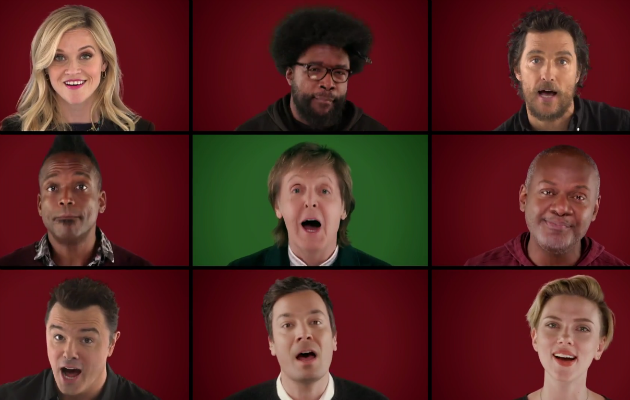 Paul Mccartney Christmas.Watch Paul Mccartney Matthew Mcconaughey And More Perform