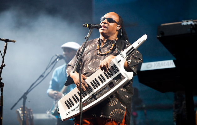 Stevie Wonder sang with a busker