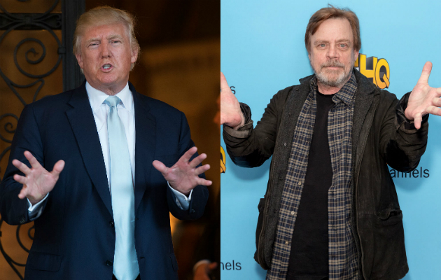 Star Wars' Mark Hamill reads Donald Trump tweets in style of The Joker
