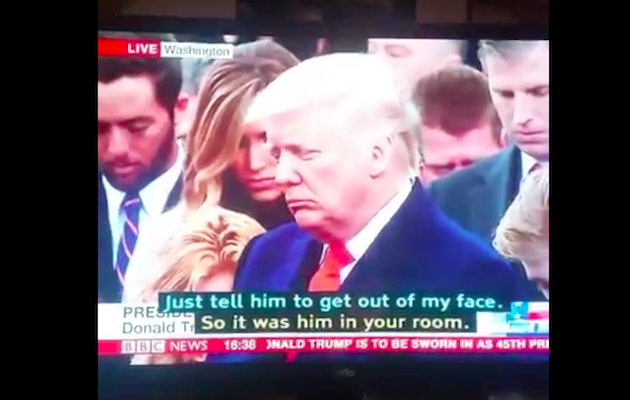 BBC uses wrong subtitles during live inauguration