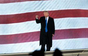 Donald Trump at his inauguration concert