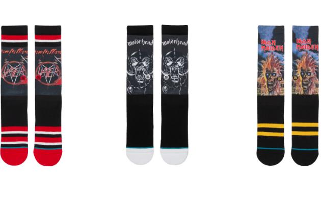 Slayer, Motorhead and Iron Maiden socks