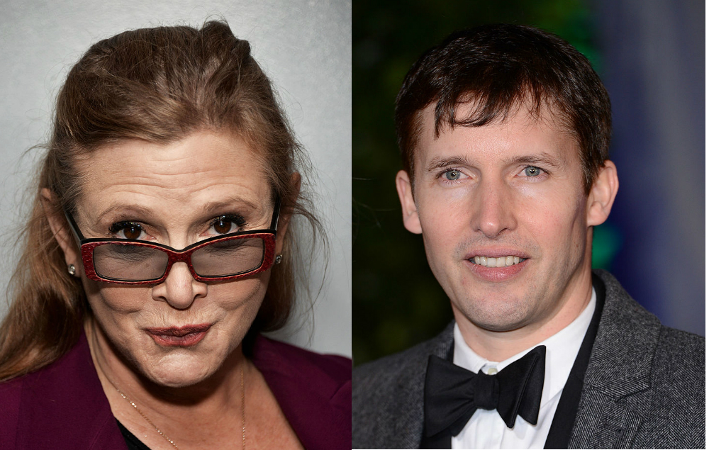 James Blunt Carrie Fisher tribute