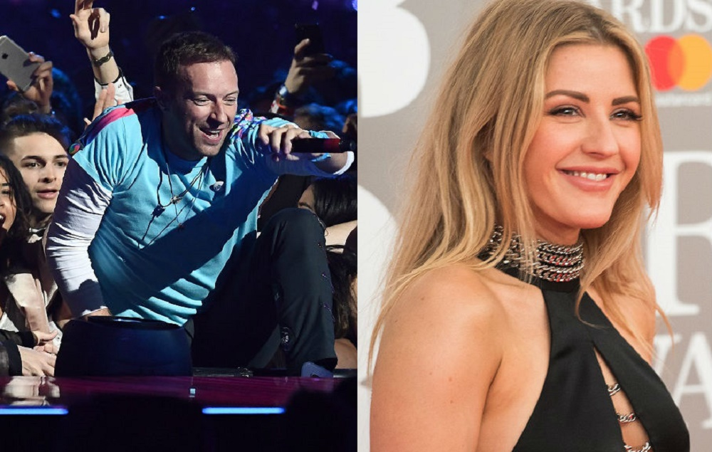Coldplay's Chris Martin and Ellie Goulding
