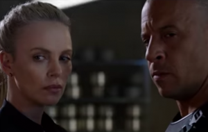 Charlize Theron and Vin Diesel in 'The Fate Of The Furious'