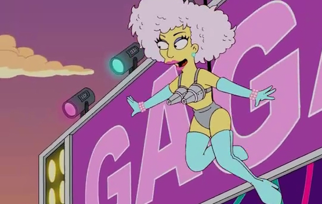 The Simpsons predicts aspects of Lady Gaga's 2017 Super Bowl performance in the 2012 episode Lisa Goes Gaga