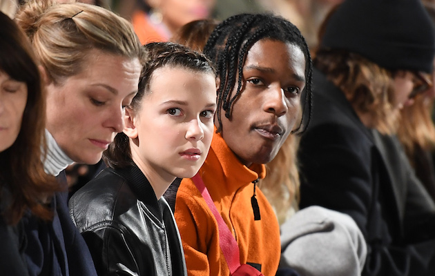 Stranger Things Star Millie Bobby Brown And A Ap Rocky