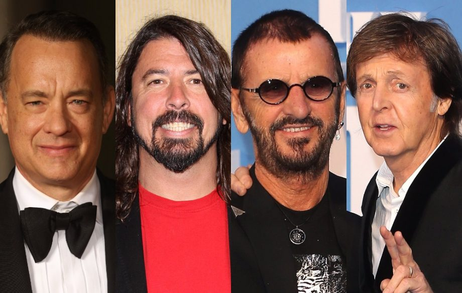 Paul McCartney Dave Grohl Tom Hanks And Ringo Starr All Went Out