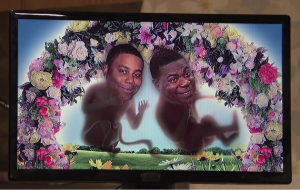 Tracy Morgan and Keenan Thompson as Beyoncé's unborn twins