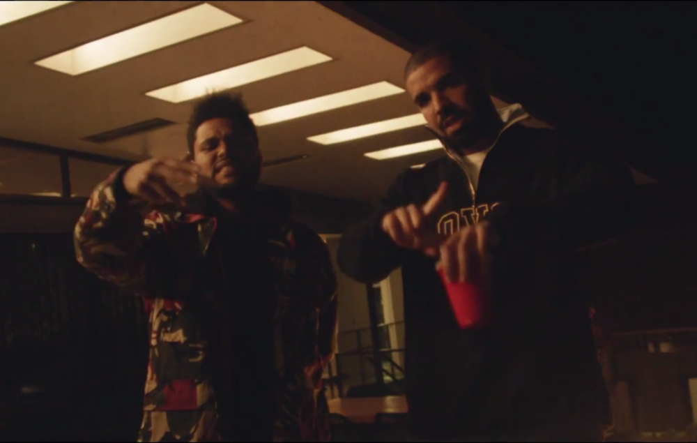 The Weeknd and Drake in the 'Reminder' video
