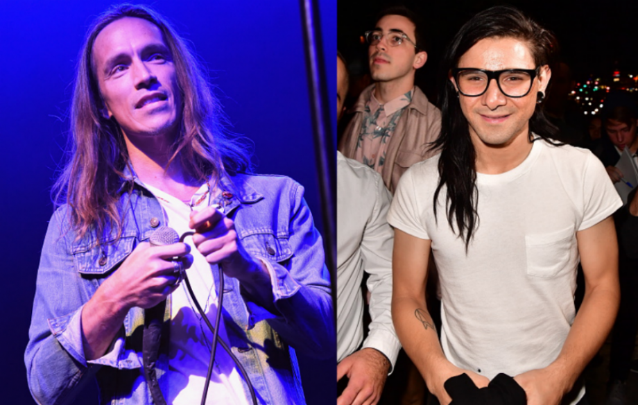 incubus and skrillex pictured in the studio together nme