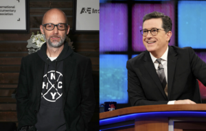 Moby and Stephen Colbert