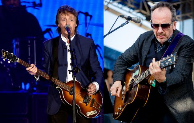 Paul McCartney unveils rare demo featuring Elvis Costello