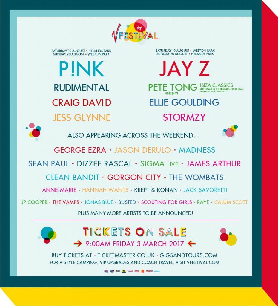 V Festival 2017 line-up